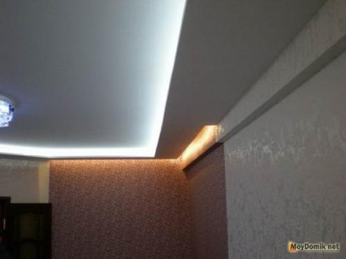 Потолок из гипсокартона своими руками двухуровневый на кухне. Монтаж профилей подвесов – силовой конструкции для крепления гипсокартона