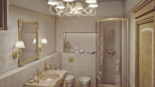 Светильник в ванной над дверью. Правильное расположение светильников