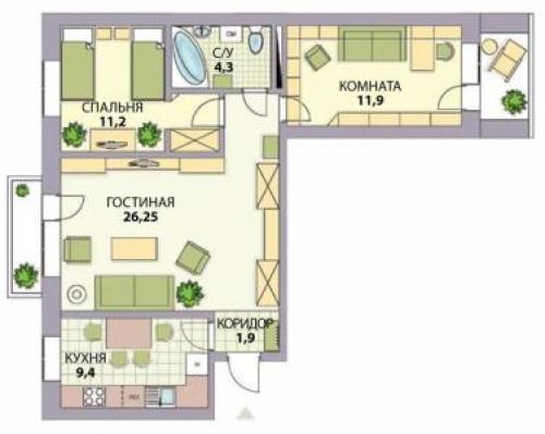 Дизайн квартиры 3 комнатной 467 серии. С чего начать