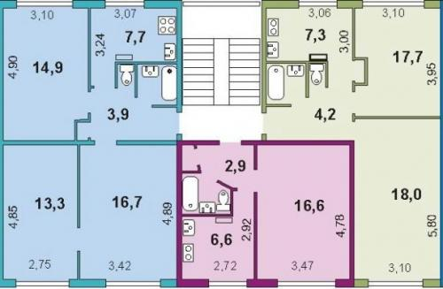 467 серия 1 комнатная. Серия дома 1-467
