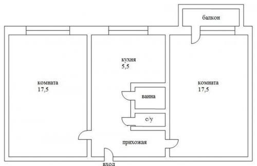 Квартира двухкомнатная хрущевка планировка. Варианты планировки