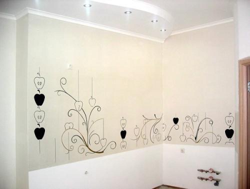 Рисунки на стене на кухни. Рисунки на стенах кухни: создаем уют