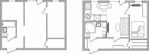Хрущевка 2 комнатная планировка. Реальные примеры перепланировки хрущевки
