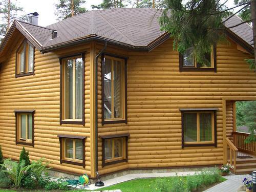 Отделка деревянного дома. Декоративная плиточная продукция