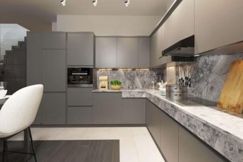Двухуровневые шкафчики на кухне. Двухуровневая кухня: секреты дизайна и удачной цветовой гаммы 84 фото